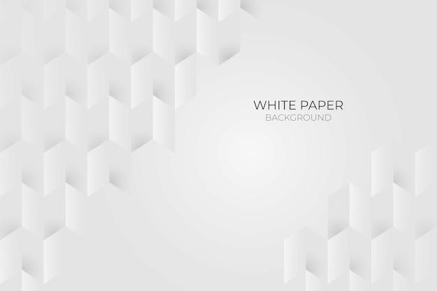 Fond de style papier 3d blanc