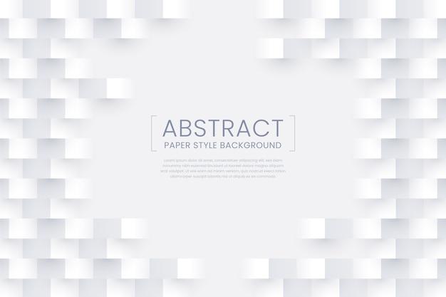 Fond de style de papier abstrait blanc