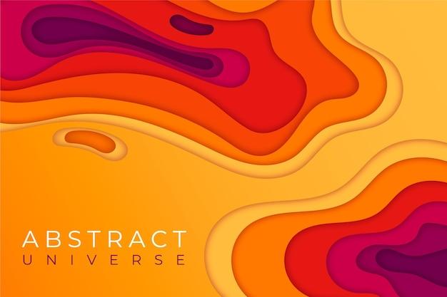 Fond de style papier abstrait coloré
