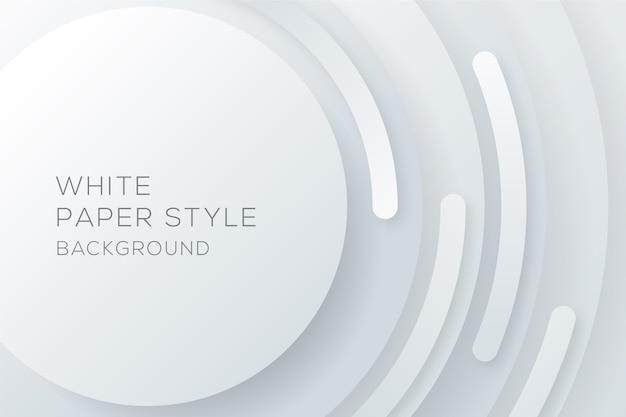 Fond de style de papier circulaire blanc