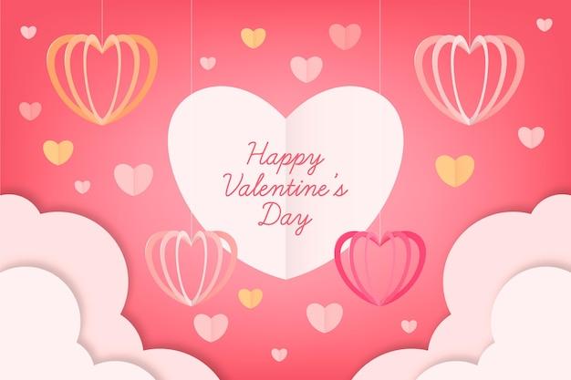 Fond de style papier saint valentin