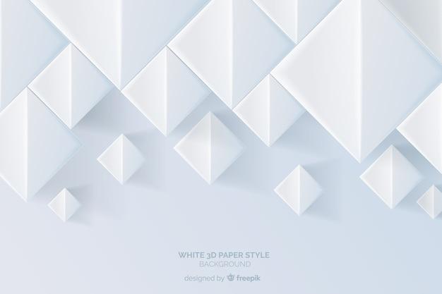 Fond de style de papier tridimensionnel