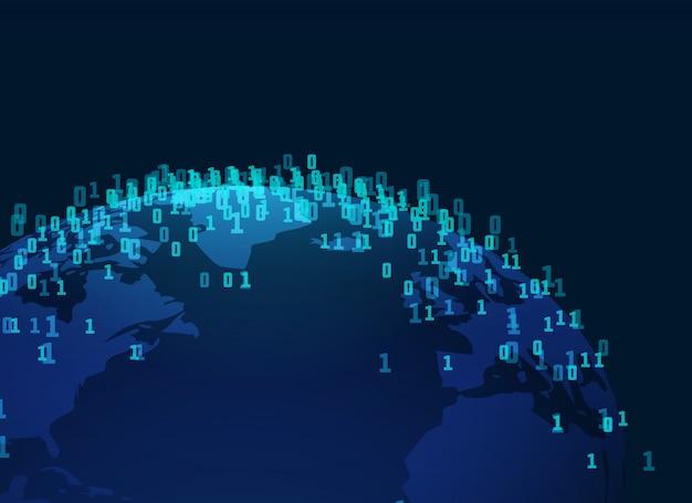 Fond de style de technologie numérique de la terre