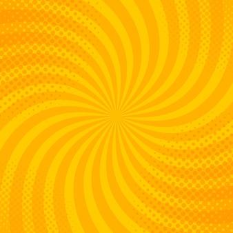 Fond de style vintage rétro jaune avec illustration vectorielle de rayons de soleil.