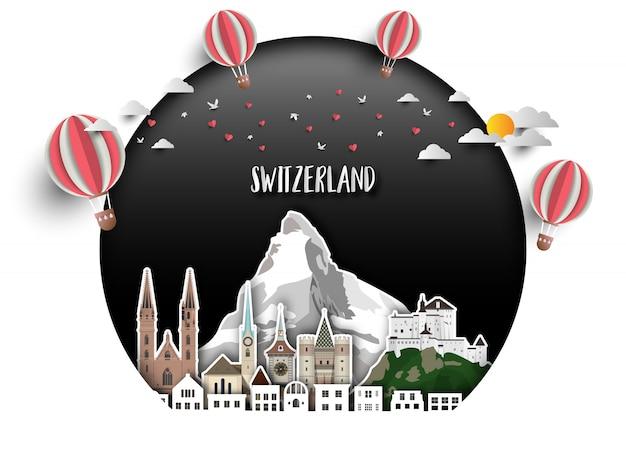Fond de la suisse