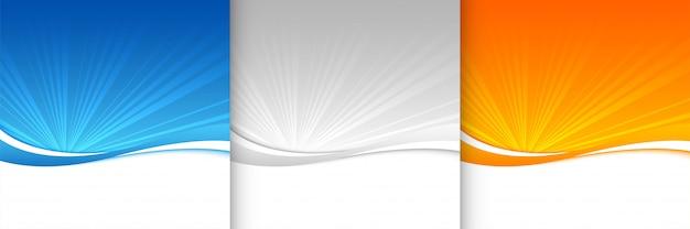 Fond de sunburst dans les couleurs bleu gris et orange