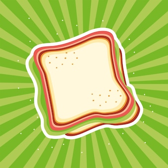 Fond de sunburst frais de nourriture de sandwich