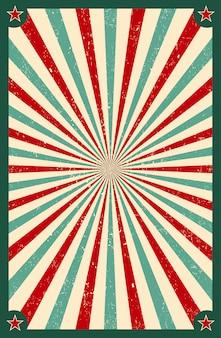 Fond de sunburst rétro lumière du soleil. vieux starburst. style cirque