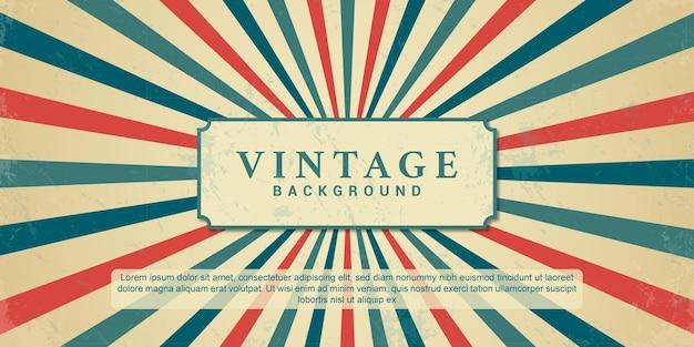 Fond de sunburst vintage ray rétro des années 70