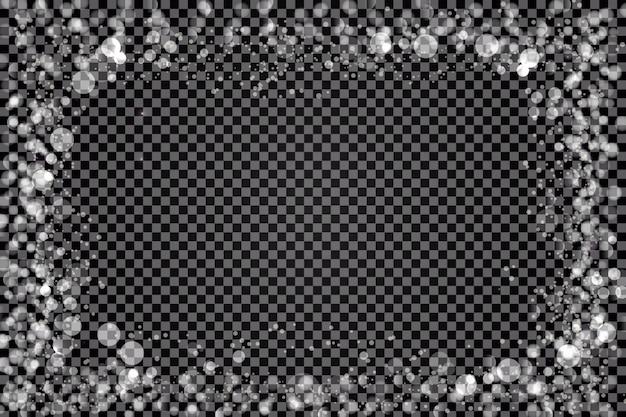 Fond de superposition de bordure de lumières
