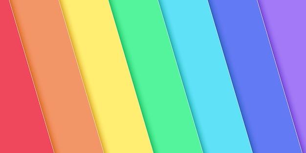 Fond de superposition diagonale de couleur arc-en-ciel abstrait