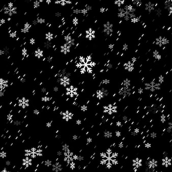 Fond de superposition de flocon de neige de noël