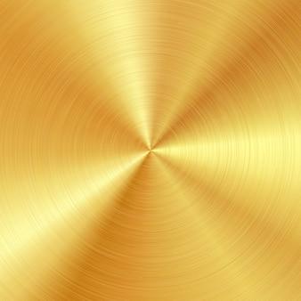 Fond avec surface en or brossé poli