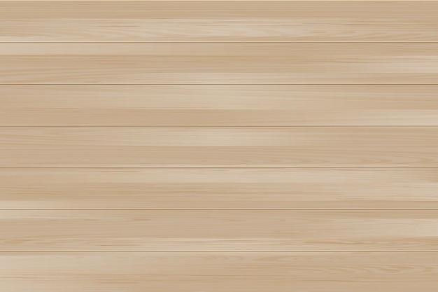 Fond de table en bois vecteur réaliste vue de dessus plancher en bois texture de pin brun clair maquette