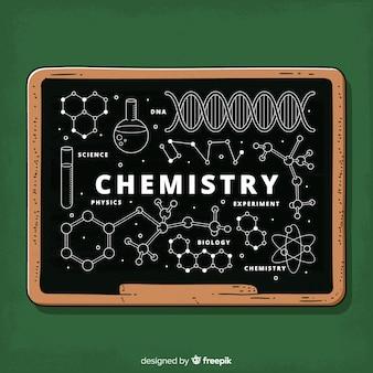 Fond de tableau avec des informations sur la chimie