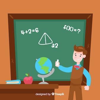 Fond de tableau noir maths de dessin animé