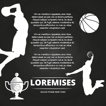 Fond de tableau noir de tournoi de basket-ball