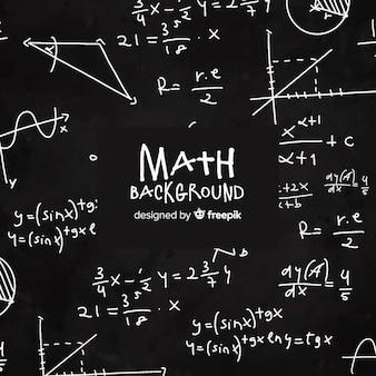 Fond de tableau réaliste maths