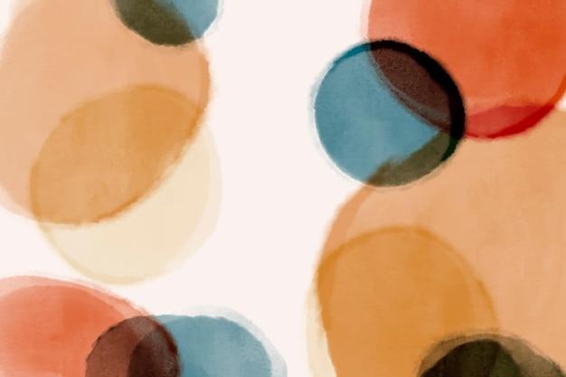 Fond de taches circulaires aquarelle