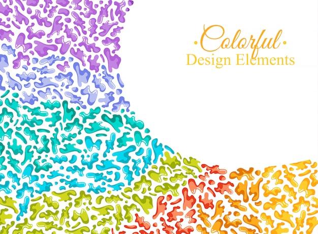 Fond avec des taches colorées et pulvérise sur un blanc.