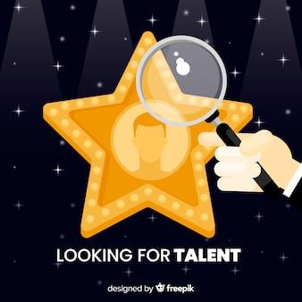 Fond de talent à la recherche d'étoiles