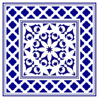 Fond de tapis décoratif en porcelaine