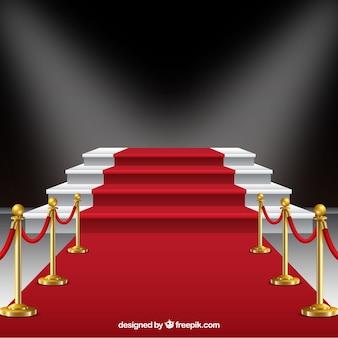 Fond de tapis rouge dans un style réaliste