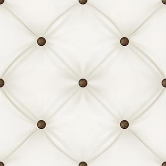 Fond de tapisserie d'ameublement en cuir blanc.
