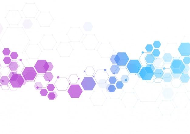 Fond de tech abstrait molécule structure