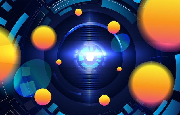 Un fond techno abstrait