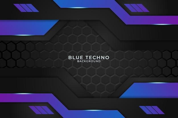 Fond Techno Bleu Minimal. Illustration Vecteur De Prime Futuriste Moderne Forme Géométrique Abstraite Vecteur Premium