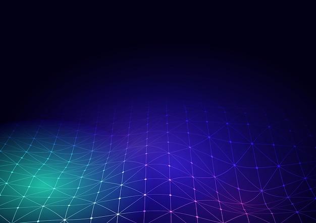 Fond de techno avec grille de connexion