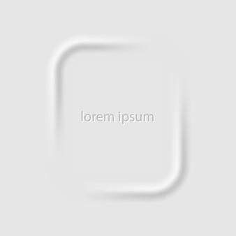 Fond de technologie 3d dans l'illustration de style néomorphisme isolé