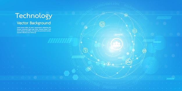 Fond de technologie 3d