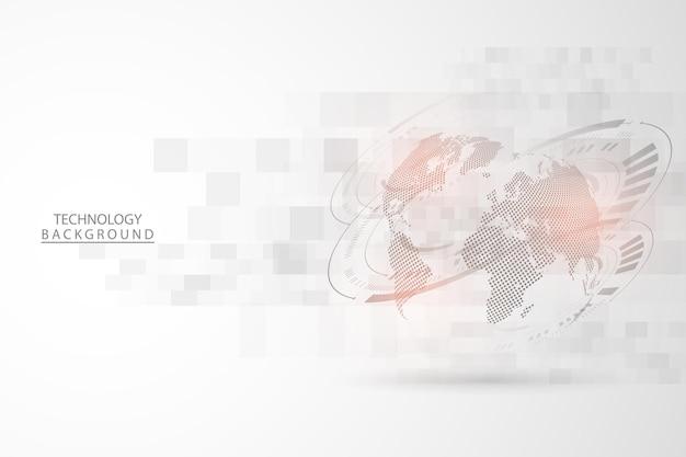 Fond de technologie abstrait concept de communication hitech fond d'innovation numérique futuriste pour la science de la connexion web mondiale illustration vectorielle