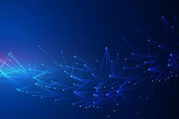 Fond de technologie abstraite avec chaos de lignes de connexion
