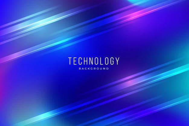 Fond de technologie abstraite coloré avec effets de lumière