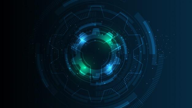 Fond de technologie abstraite communication de haute technologie