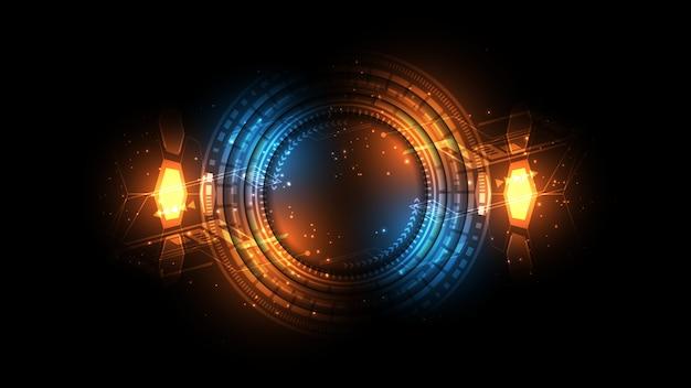 Fond de technologie abstraite concept de communication hi-tech