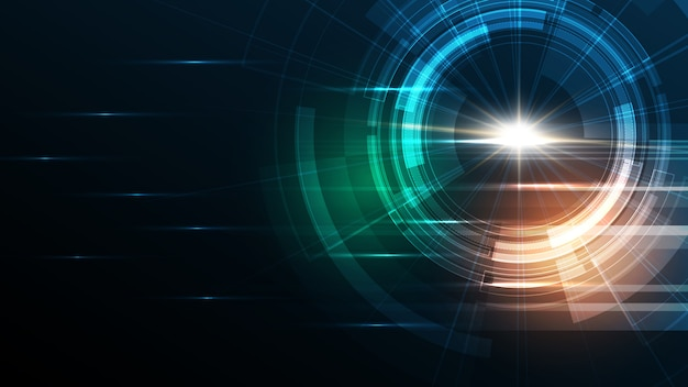 Fond de technologie abstraite contexte d'innovation de concept de communication de haute technologie