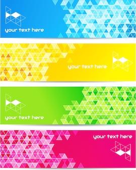 Fond de technologie abstraite en couleur