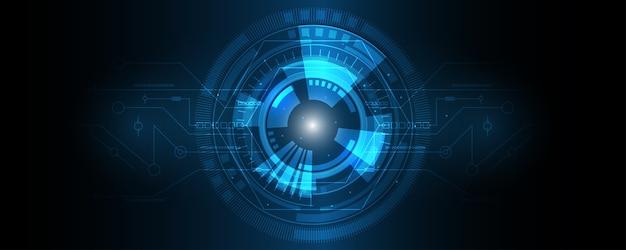 Fond de technologie abstraite, fond de concept hi-tech