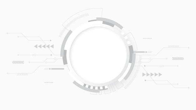 Fond de technologie abstraite gris blanc, connexion numérique hi tech, communication
