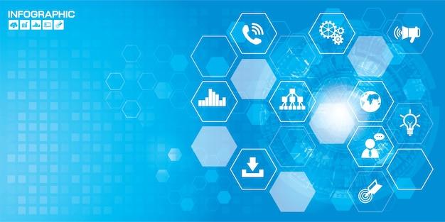 Fond de technologie abstraite de haute technologie