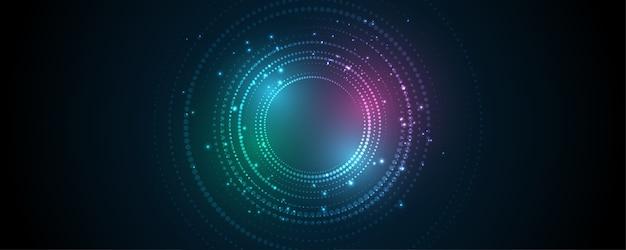 Fond de technologie abstraite hi-tech communication concept innovation fond illustration vectorielle