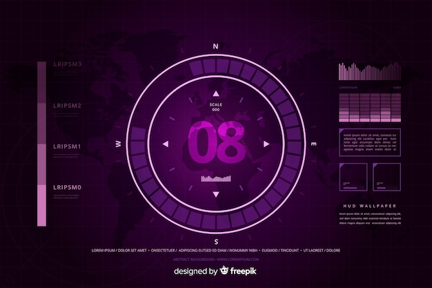 Fond de technologie abstraite hud violet