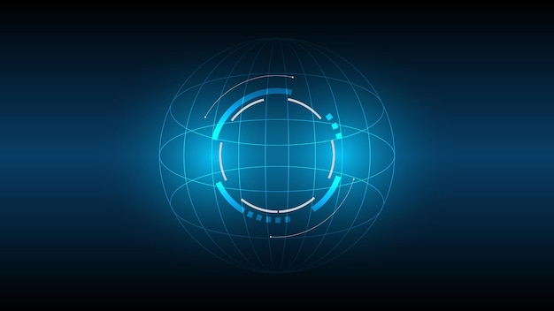 Fond de technologie abstraite, illustration, innovation de concept de communication hi-tech