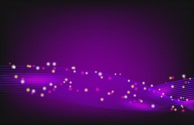 Fond de technologie abstraite avec ligne ondulée