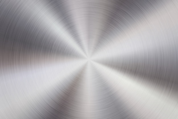 Fond de technologie abstraite métallique avec texture concentrique poli circulaire