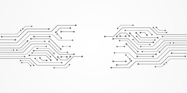 Fond de technologie abstraite, modèle de carte de circuit imprimé, espace vide
